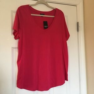 New Torrid Size 1 Pink Casual Blouse